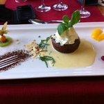 dessert: fondant chocolat