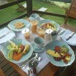 Petit déjeuner haut en couleurs