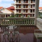 The sprawling balcony