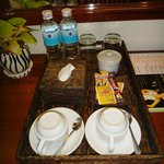 coffee/tea/water served daily