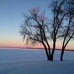 Lake Bemidji Sunset (Winter)