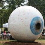 A big eye: a little weird