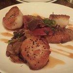 Delicious diver scallop appetizer