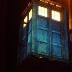 That iconic very British piece of TV history.Dr.Who's TARDIS in the 2013 illuminations.