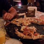 Restinho da pizza de Lombinho...