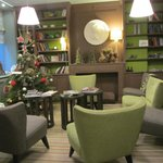 Hotel lobby - cosy, chic and well decorated.