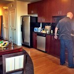 Kitchen + Fridge In Room