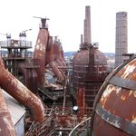 View on some of the blast furnaces
