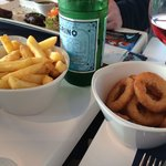 Extras chips and onion rings