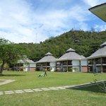 vue sur les bungalows accueillant les chambres