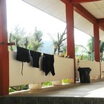 You can hang up your swimclothes for drying