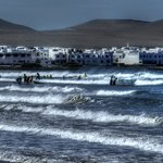 Surf school at Famara Beach, Lanzarote