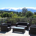 The deck with a view on the Hottentots mountain range