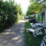 our static caravan on the right. good condition inc chairs, tables and bbq.