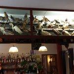 le décor ornithologique du restaurant