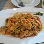 Yellow curry squid