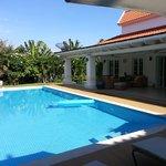 vue piscine villa