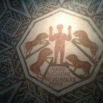 """Mosaio """"Daniele nella fossa dei leoni"""""""