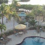 Pool/private beach area