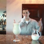 Mauricio serving a world-class Pina Coloda!
