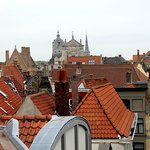 The roofs Bruges is so famous for, seen from my room in Hotel Heritage