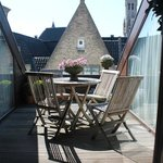 The charming sundeck at Hotel Heritage