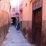 Narrow alley leading to the spa!