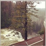 The view of the falls from the porch on our room.