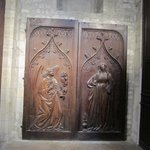 Old carved wooden doors