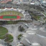 Olympiastadion fotografiert vom Olympiaturm