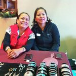Native American ladies selling stunning jewelry they made.