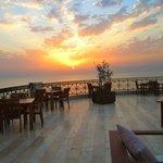sunset from the Ishtar lobby