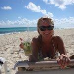 Debi on the VIM beach