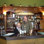 Anne and I behind the bar