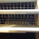 mold inside AC unit room 211