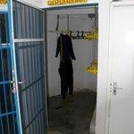 Locked Dive Equipment Storage