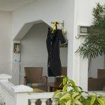 Convenient Scuba equipment drying in each condo/apt