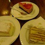 Delectable Trio: Kreme Pastry, Strawberry Cake, Ezterhazy Cake