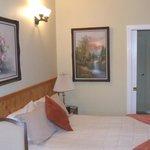 Comfortable Bed / Bathroom entrance