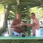me and jorge at the beach bar