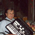 Father playing accordion