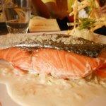 Le pavé de saumon au sel