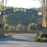 Entrance to Coppola winery