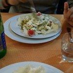 bigoli alla Portofino in crosta di parmigiano...