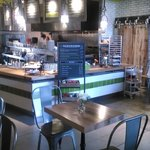 Fast-casual breakfast, lunch, happy hour, dinner