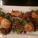 Scallops with pomegranate
