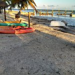 Beach with free Kayaks for guest use