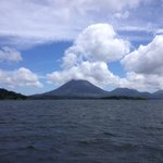 the first view of the arenal volcano
