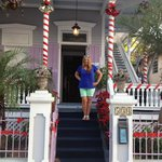 Front steps off of Eaton Street. With holiday decor!