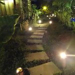 Walkway to our room